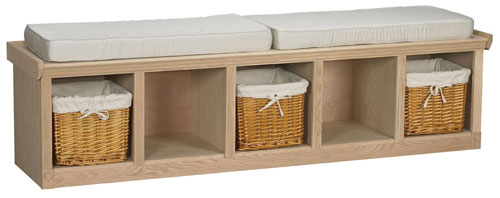 Oak Cubby Bench Finish And Save
